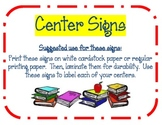 7 Center Signs ~ Colorful & Cute