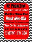 7 Habits Leader In Me Chevron Printable