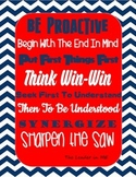 7 Habits Leader in Me Navy & Red Printable