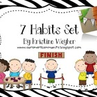 7 Habits Poster Set ~ FREEBIE ~ ZEBRA and Plain Included!