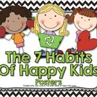 7 Habits of Happy Kids Posters - Black and Green