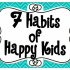 7 Habits of Happy Kids or Highly Effective Teens Poster Set