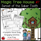 #7 Magic Tree House- Sunset of the Sabertooth Questions