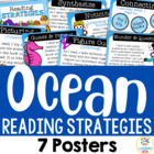 7 Reading Strategy Posters - Ocean Theme