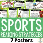 7 Reading Strategy Posters - Sports Theme