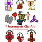 7 Sacraments & Other Christian Symbols Clip Art