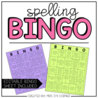 7 Spelling BINGO Sheets