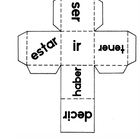 7 printable Spanish verb dice for conjugation games