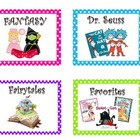 70+Classroom Library Book Basket Labels Deluxe/Library Lab