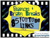 85 Dances & Brain Breaks - YouTube Video Links for Video C