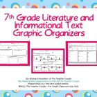7th Grade Common Core Reading Graphic Organizers