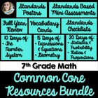 7th Grade Math Common Core Complete Resource Bundle
