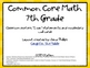 7th Grade Math Common Core Posters and Wall Cards