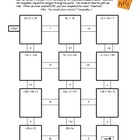 7th Grade Math Common Core: Solving Inequalities Maze Worksheet
