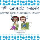 7th Grade Math Common Core Standards Posters