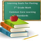 7th Grade Math Common Core Standards in Student Friendly L