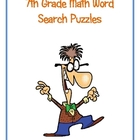 7th Grade Math Vocabulary Word Search Puzzles