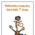 7th Grade Math Word Walls