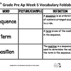 7th Pre Ap Weekly Vocabulary Foldable