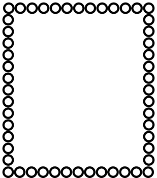 8 Black and White Page Borders- Set 2