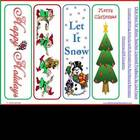 8 Colorful Christmas Bookmarks -Print &amp; Cut