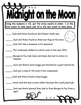 #8 Magic Tree House- Midnight on the Moon Questions