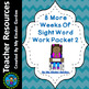 8 More Weeks of Sight Word Practice Packet 2