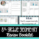 8th Grade Common Core Geometry Review Booklet