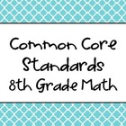 8th Grade Math Common Core Big Idea Posters