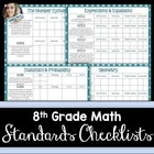 8th Grade Math Common Core Standards Checklists