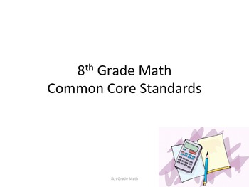 8th Grade Math Common Core Standards