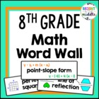 8th Grade Math Word Wall Cards
