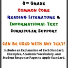 8th Grade Reading Literature/Info. Text Common Core Curric