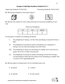 8th Grade STAAR Math Example Problems