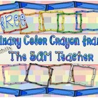 9 FREE Primary Colored Crayon Frames