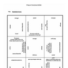 9 square activity- Basketball terms 5