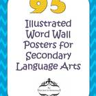 95 Illustrated Word Wall Vocabulary Posters for Secondary 