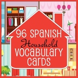 50% OFF! 96 Spanish / English House Vocabulary Flash Cards