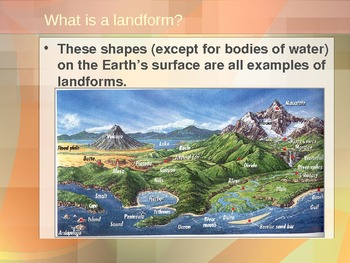 A 75 slide Power Point on Landforms-Primary and Secondary