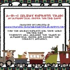 A-B-C Holiday Express Train - Alphabetical Order