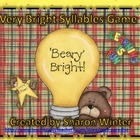 A Beary Bright Syllable Game