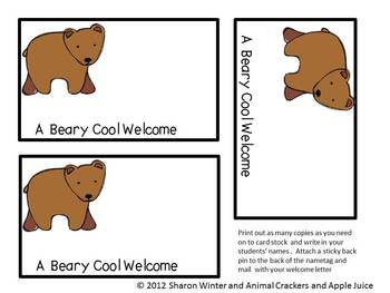 A Beary Cool Welcome Packet