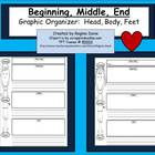 A+ Beginning, Middle, End Graphic Organizer  Throughout The Year