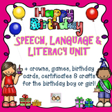 Speech & Language: Birthday Party Themed Speech, Language