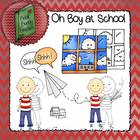 A Boy at School: Clip Art