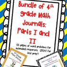 A Bundle Every 4th Gr. MATH Teacher NEEDS! Journal Parts I