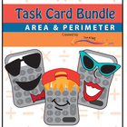 A Bundle of 3 Sets of Area and Perimeter Task Cards - All