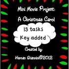 A Christmas Carol: Mini Movie Project (13 tasks and key)