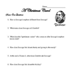 A Christmas Carol Unit Questions