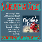 A Christmas Carol Writing Activity